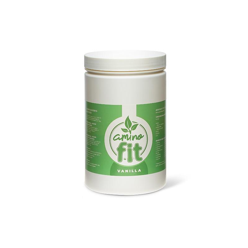 Amino-Fit bevat 500 gram plantaardig eiwitpoeder