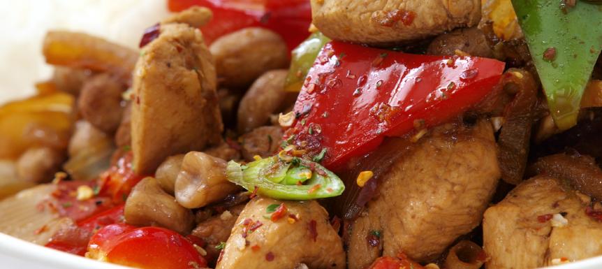 Koude Kip Curry Salade